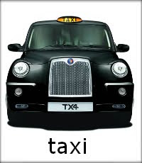 Taxi: Picture of a black london taxi.