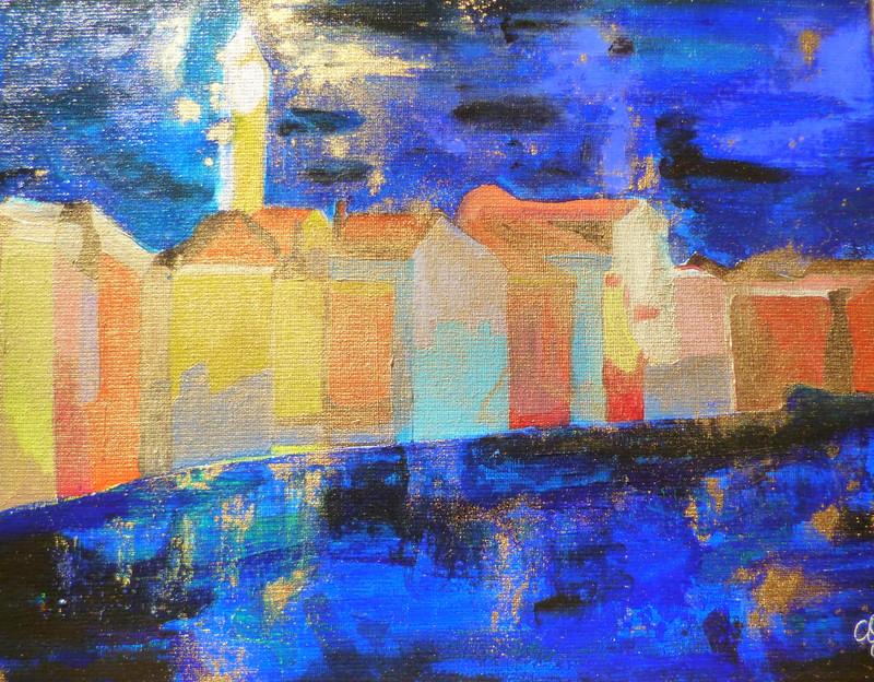 Crépuscule sur Burano