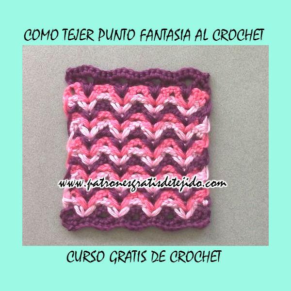 Punto fantasia zig zag en tres colores | Crochet y Dos agujas ...