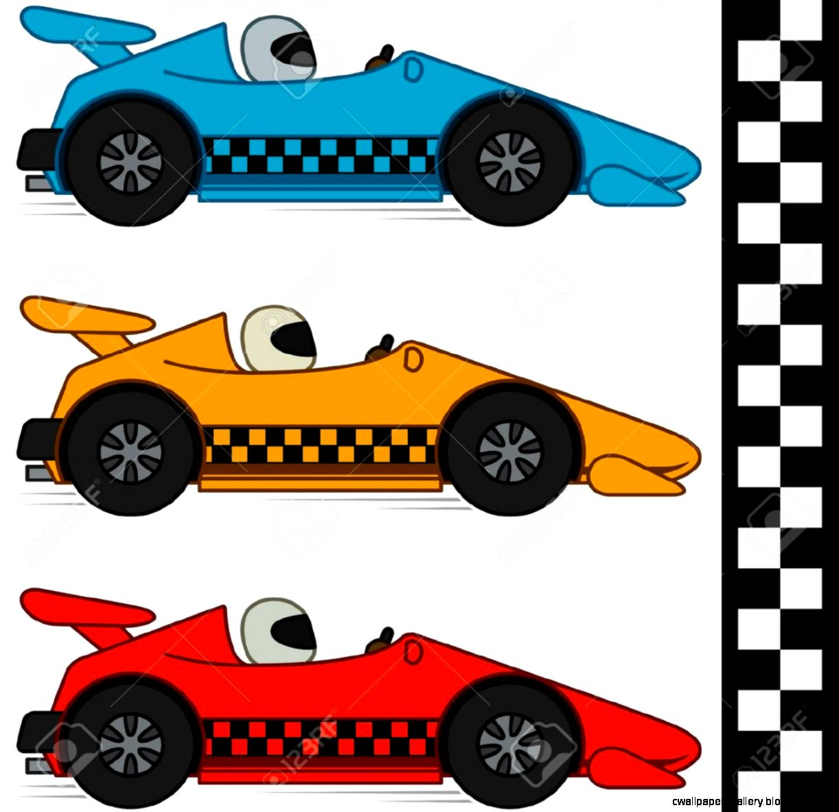 Racing Stock Vector Illustration And Royalty Free Racing Clipart