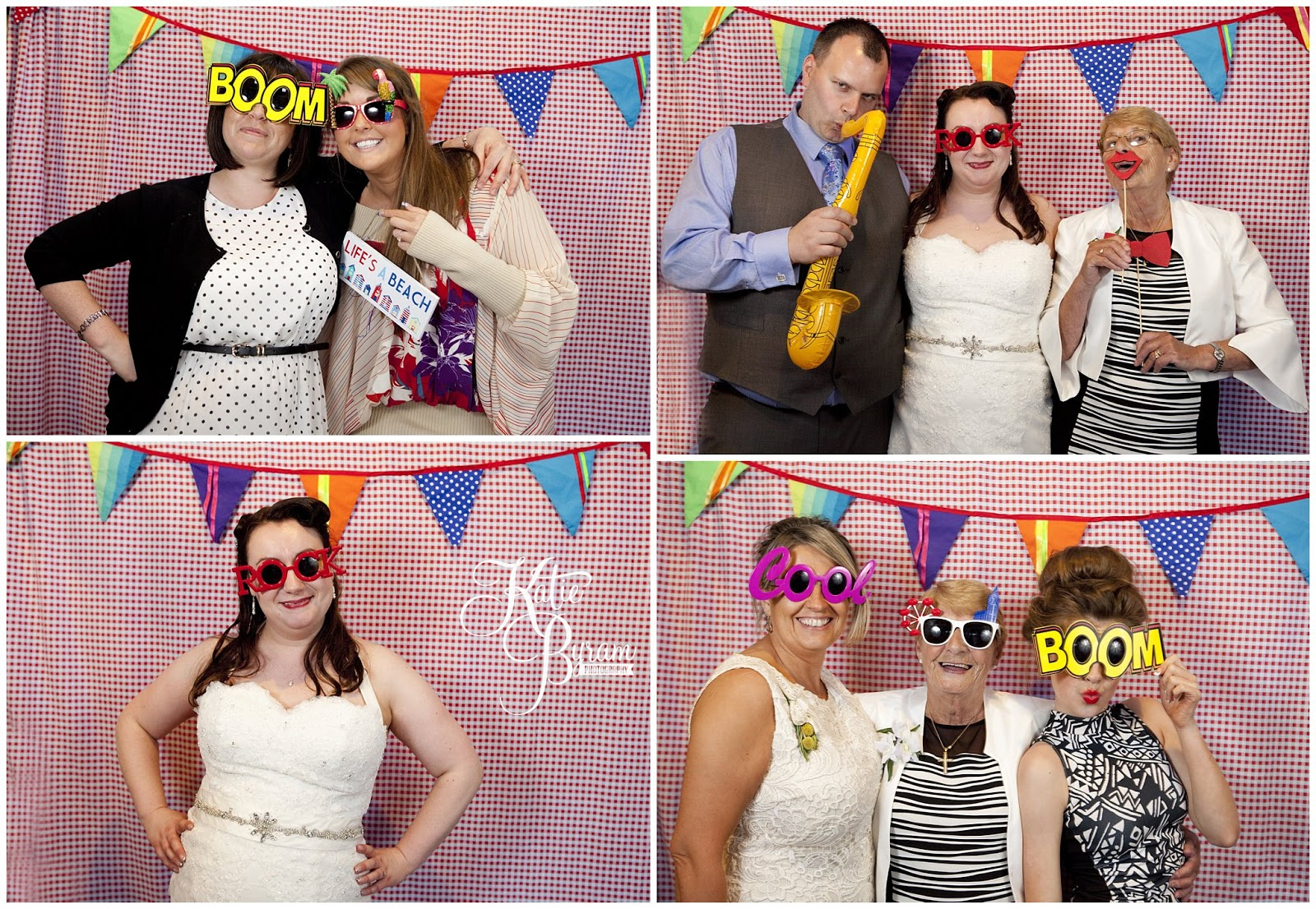 Funky Photobooth Wedding Diy Props Bunting Bride In