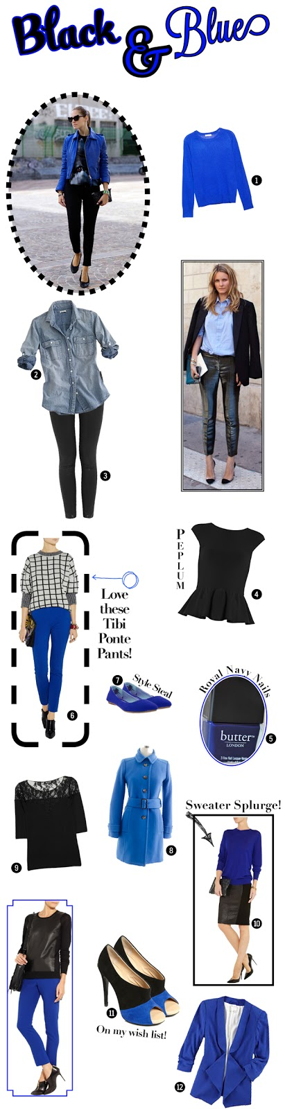 Fall Fashion Trends, Black and Blue