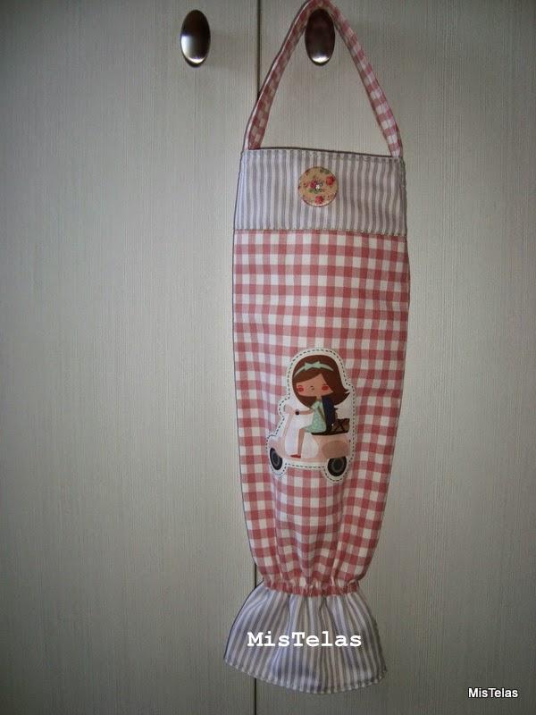 Mis telas dispensador de bolsas de pl stico - Guardar bolsas plastico ...