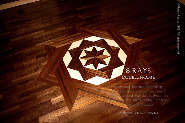 Wood Floor Medallion - The 8 Rays DF II