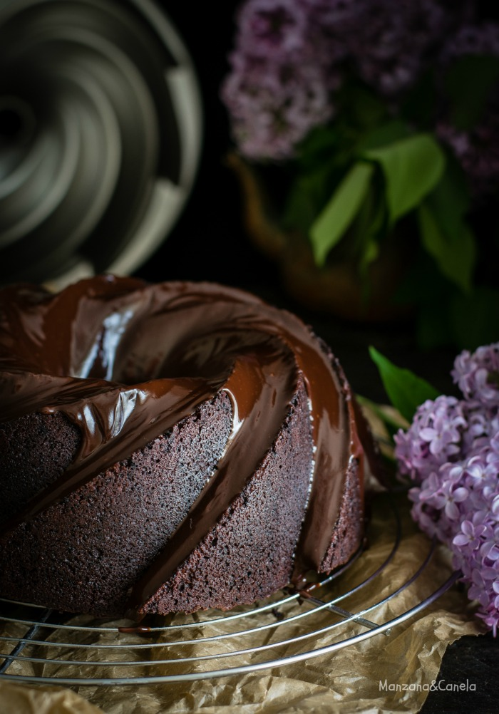 Bundt cake de chocolate y Bourbon