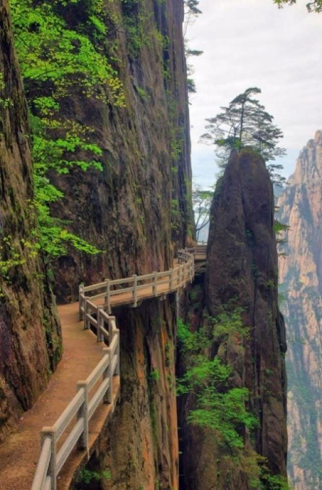 Cliffside Steps, Hunan, China: