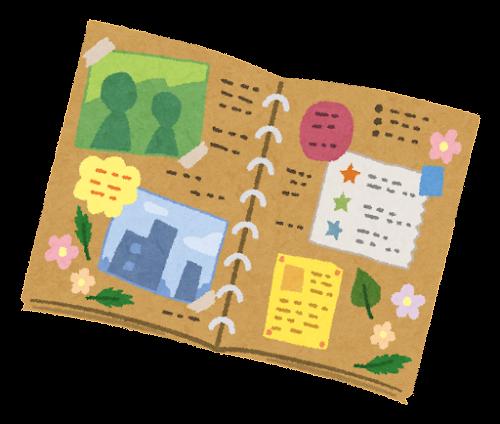 スクラップブックのイラスト