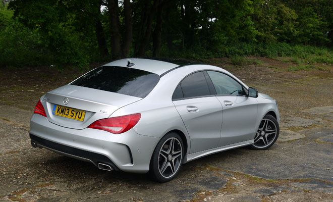 Mercedes CLA rear view