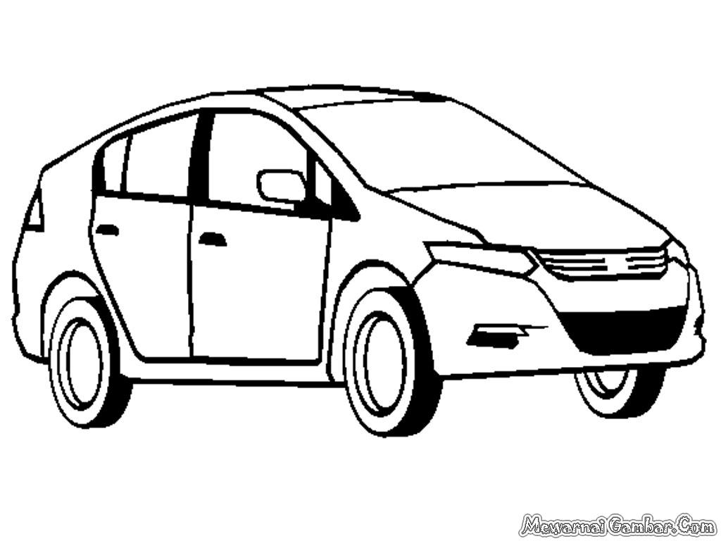 Gambar Mobil Honda Untuk Diwarnai Anak