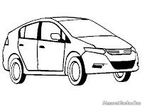 Mewarnai Gambar Mobil Honda Insight