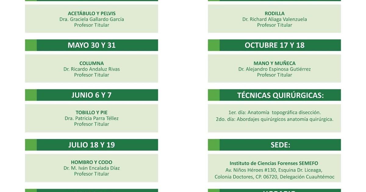 Colegio mexicano de ortopedia y traumatolog a artroscopia for W de porter ortopedia