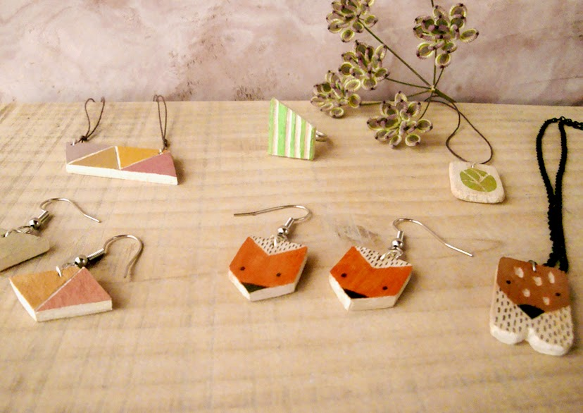 Handmade wooden jewelry