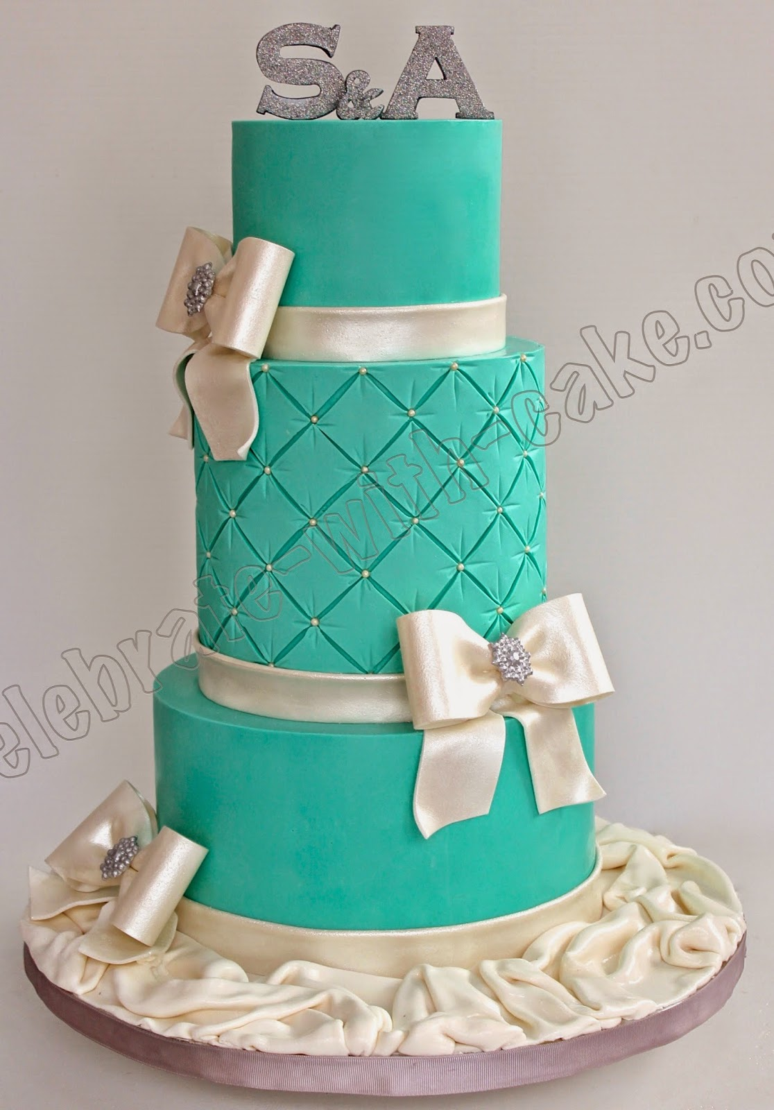 Celebrate with Cake Elegant 3 tier Wedding