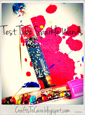 Crafts to cure test tube sparkle wands for Test tubes for crafts