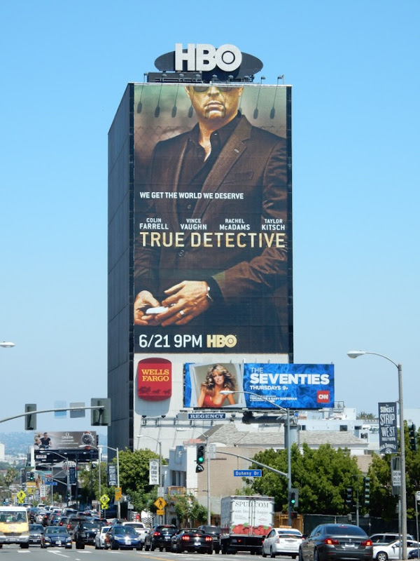 Giant True Detective season 2 billboard
