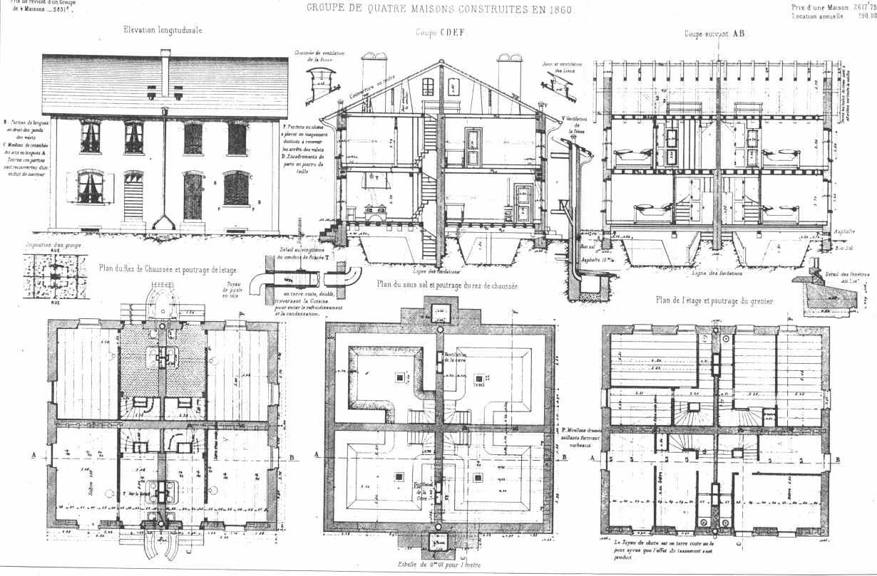 Utopias community story modelli sperimentazioni for Planimetrie della casa degli artigiani