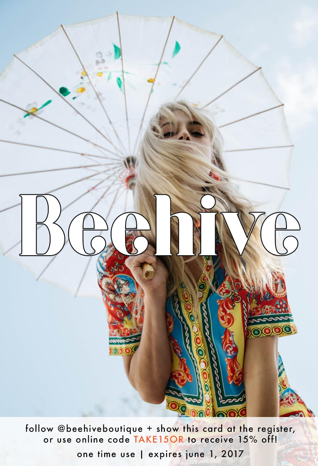 15% OFF BEEHIVE