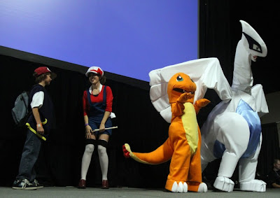 pokemon soul silver lugia lyra ash charmander cosplay cosplayers geex 2011 gaming and electronics expo convention anime
