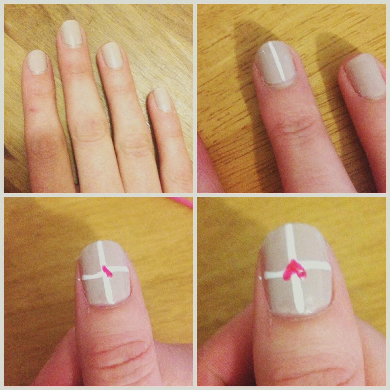 Hannahnhearts: Simple nail art tutorial: leopard and heart parcels