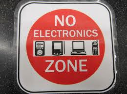 Image of no electronics sign
