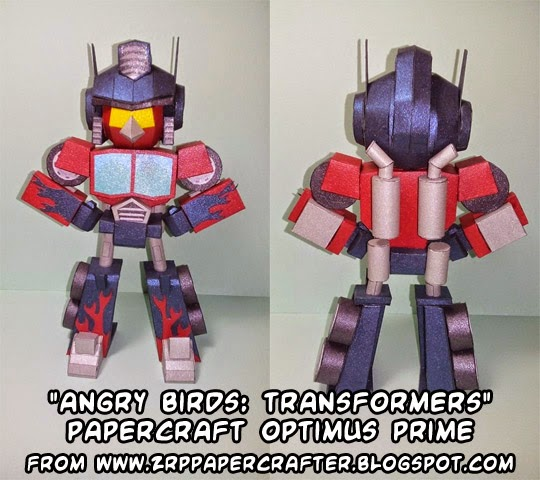 Angry Birds Transformers Papercraft - Red Bird Optimus Prime