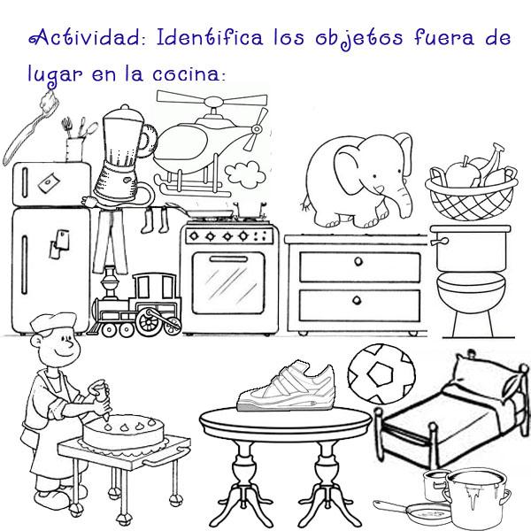 El lenguaje de los ni os razonamiento verbal for Ubicacion de la cocina
