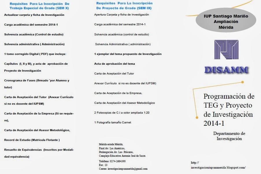 Programa lapso 2014-1