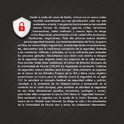 """I Seminario: """"Culturas de seguridad: Nuevos desafíos para Europa""""."""