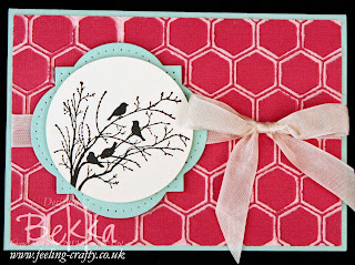 Serene Silhouettes Birds on a Branch Card by Stampin' Up! Demonstrator Bekka Prideaux