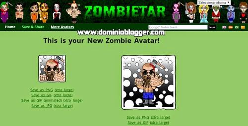Crea tu avatar de zombie online y gratis en Zombietar