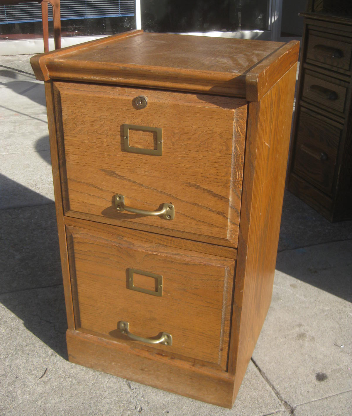 UHURU FURNITURE & COLLECTIBLES: SOLD - Oak 2-Drawer File Cabinet