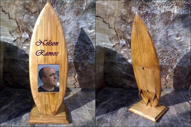 Passepartout em forma de prancha de Surf