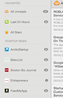 Startup News & Startup Android App Menu View