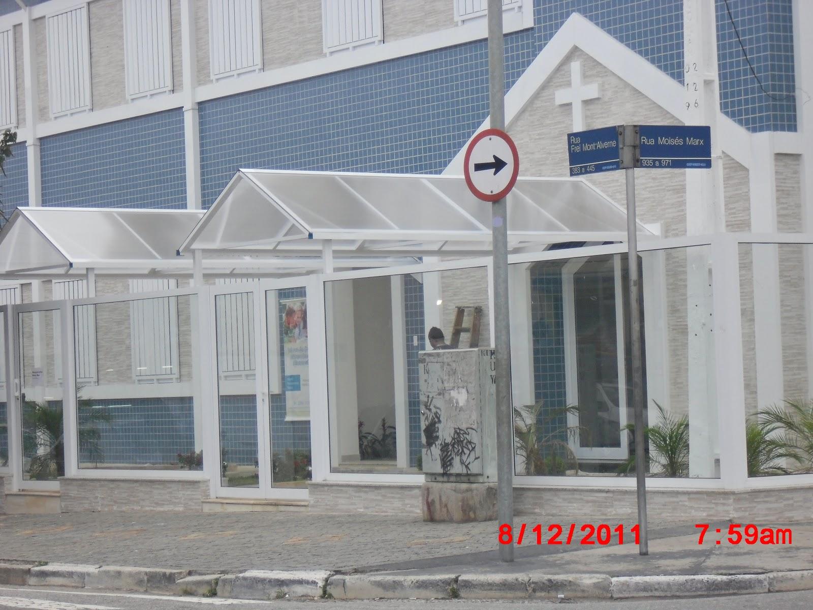 #B31918  : OBRA COMPLETA ACM POLICARBONATO PORTAS JANELAS VIDRO TEMPERADO 1238 Portas E Janelas De Vidro Zona Leste