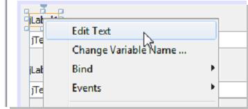Seleccionamos la opción Edit Text