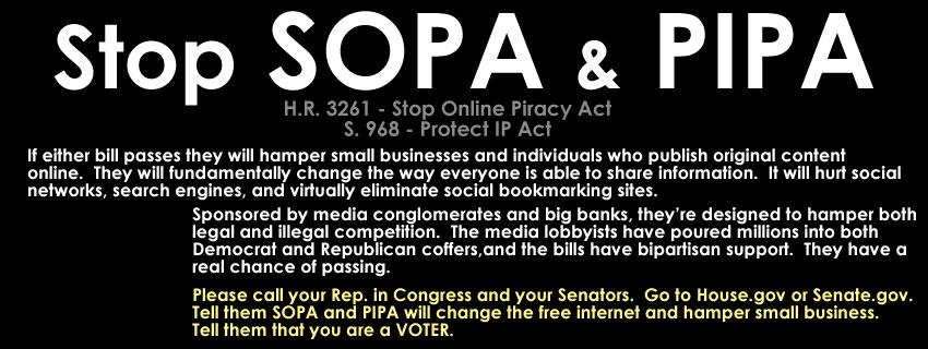 the stop online privacy act sopa Čeština: stop online piracy act (zkráceně sopa) je návrh amerického zákona, který má omezit počítačové pirátství je prosazován především nahrávacími společnostmi.