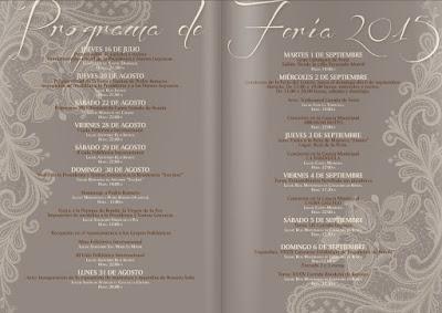 Ronda - FERIA DE PEDRO ROMERO 2015  - Programa de Feria