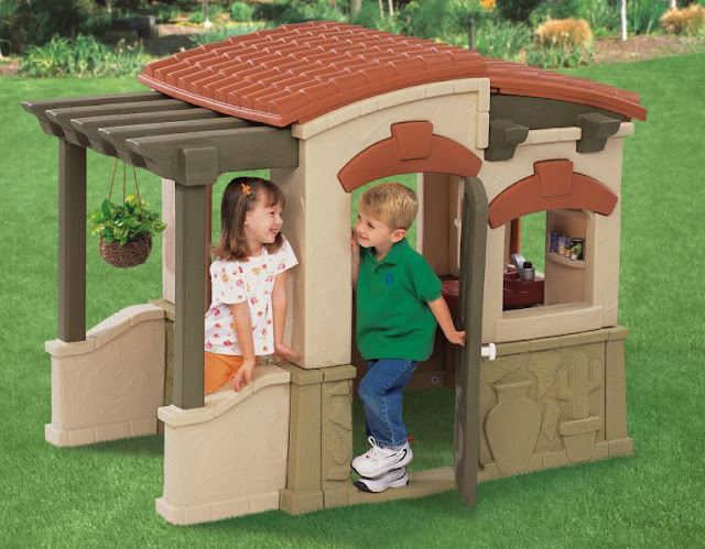 how to clean a playhouse, Step2 test drive mom, step2 test drive mom 2012, step2 test drive mom 2013, step2 adobe playhouse