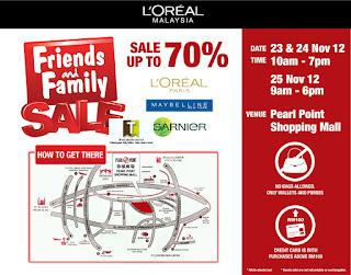 L'Oreal Friends & Family Sale 2012
