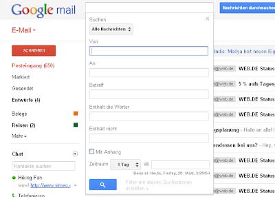 Verbesserte Suche in Google Mail