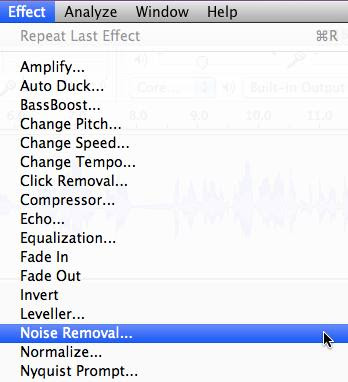 Remove Noise in MP3 in Mac