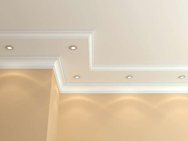 C mo poder reparar molduras en techos trucos de bricolaje for Plafones cuadrados de pared