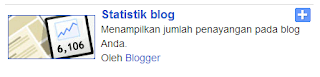 Widget Statistik Blogger