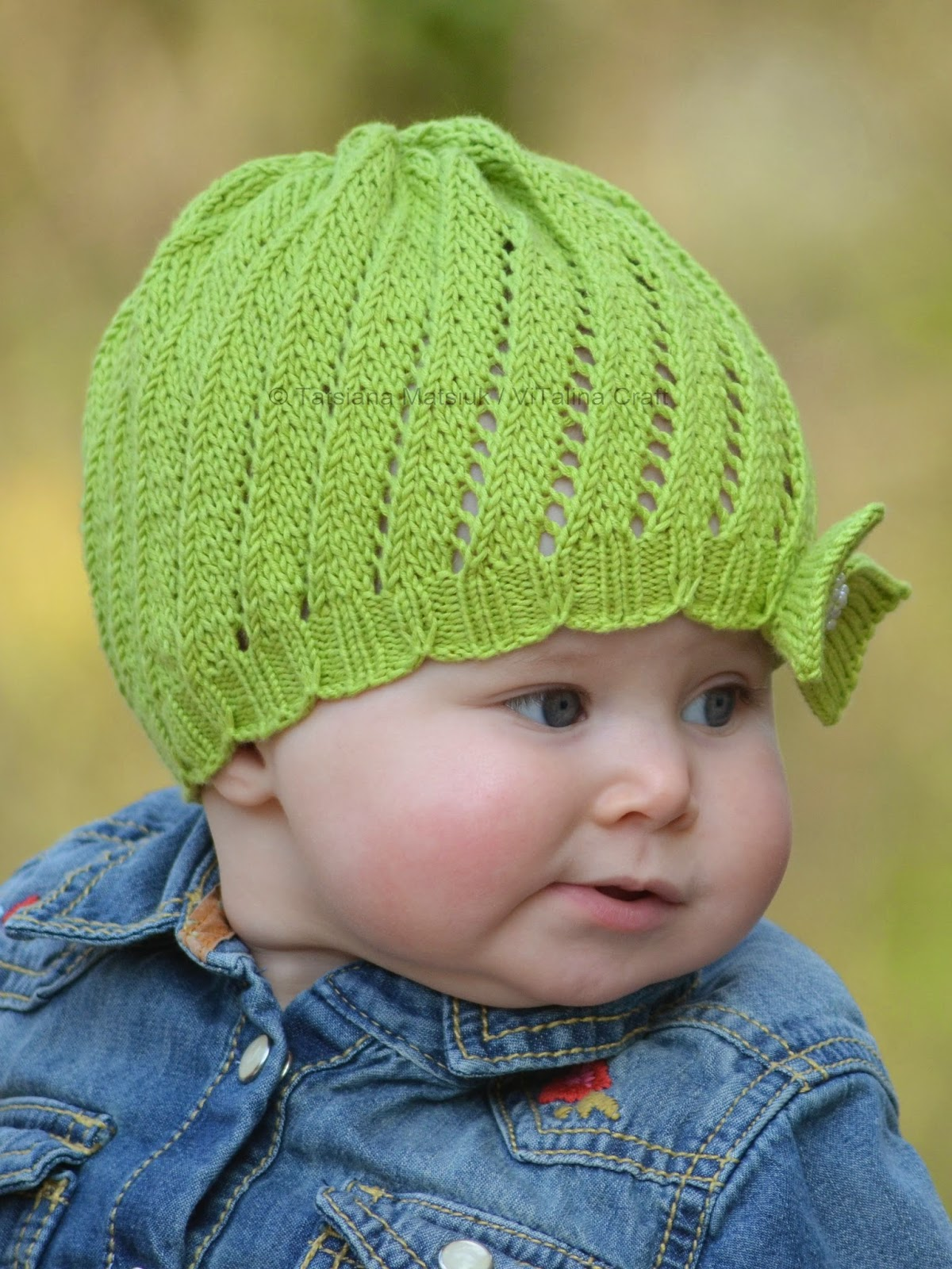 Knitting Patterns Cotton Yarn : Spinning Waves Hat Knitting Pattern ViTalina Craft