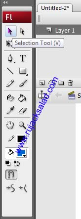 Selection Tool Of Adobe Flash CS3