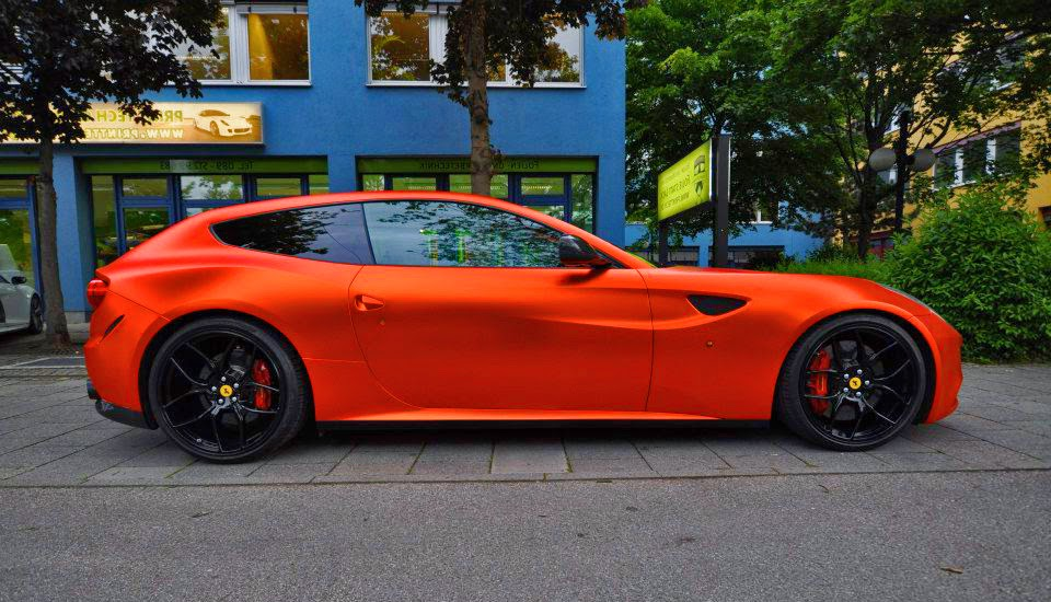 Sport Cars Ferrari Ff Orange Rot Chrome Novitec Rosso
