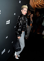 Miley Cyrus   at New MySpace Launch Party black carpet