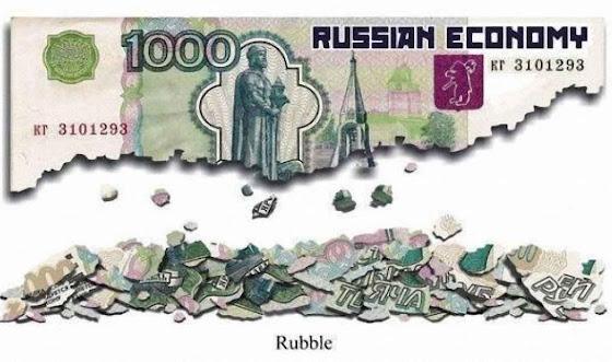 O rublo se desvaloriza esvaziando a sustentação do regime.