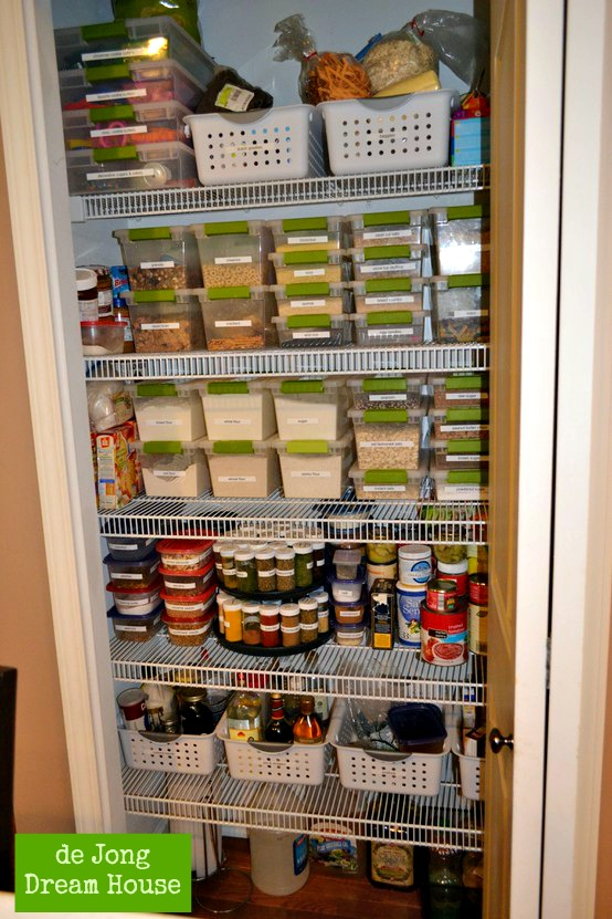 De jong dream house my perfect pantry Small home organization