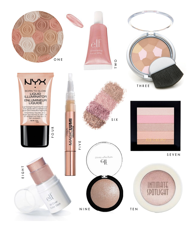 Beauty on a Budget: 10 Best Highlighters : bright and beautiful ...